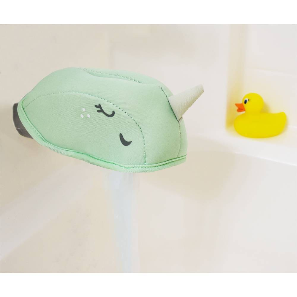 Image of Narwhal Bath Spout Cover Green - Pillowfort