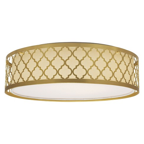 Aurora Lighting 1 Light Natural Flush Mount Ceiling Lights Brass - image 1 of 1