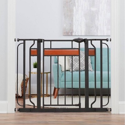 Regalo Extra Wide Home Accents Metal Walk Through Baby Gate