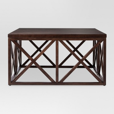 Dixfield Wood Coffee Table Espresso - Threshold™