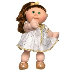 "Cabbage Patch Kids 14"" Celebration Green Eyed Kid - White & Gold"