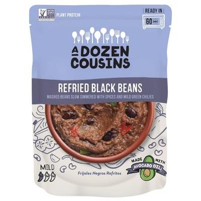 A Dozen Cousins Refried Black Beans - 10oz