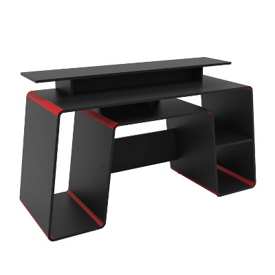 San Diego Gaming Desk Red and Black - Chique