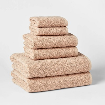 6pk Textured Bath Towel Set - Threshold™