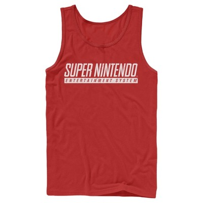 Men's Nintendo Super NES Text Logo Tank Top