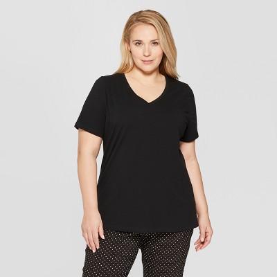 e5ed150ae0ac Women s Plus Size Short Sleeve V-Neck Essential T-Shirt - Ava   Viv