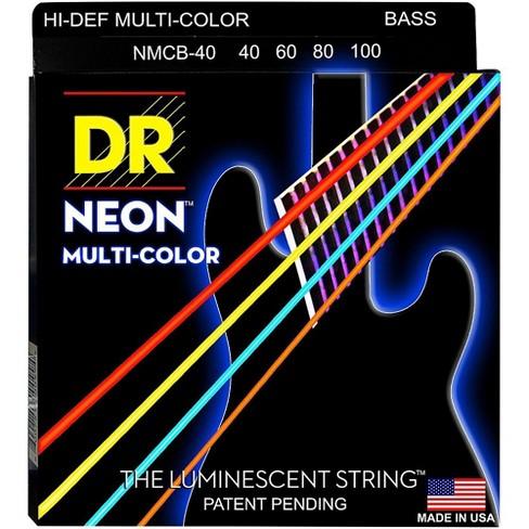 DR Strings Hi-Def NEON Multi-Color Coated 4-String Bass Strings Lite (40-100) - image 1 of 1