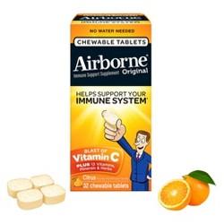 Airborne Immune Support Supplement Chewables - Citrus - 32ct