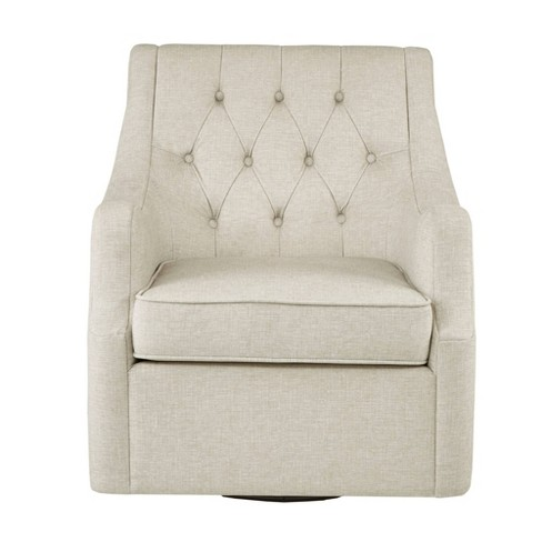 Cassie Swivel Chair Tan - image 1 of 4