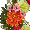 """20"""" Artificial Dahlia and Greenery Wreath - Nearly Natural - image 2 of 3"""