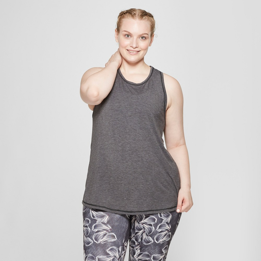 Women's Plus Size Active Tank Top - C9 Champion Black Heather 2X