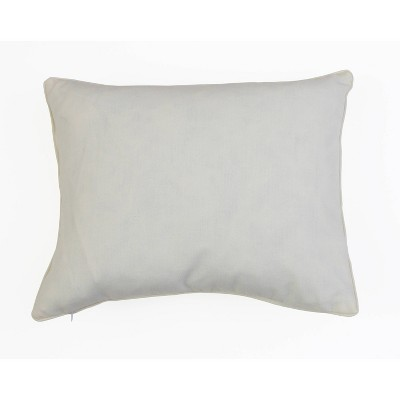 "Dcor Therapy 14""x18"" Home Sequin Script Faux Linen Throw Pillow Cream/Gold : Target"