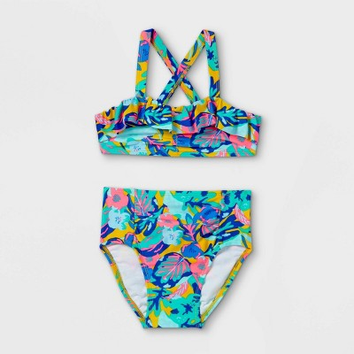 Toddler Girls' Jungle leaf 2pc Bikini Set - Cat & Jack™ 12M