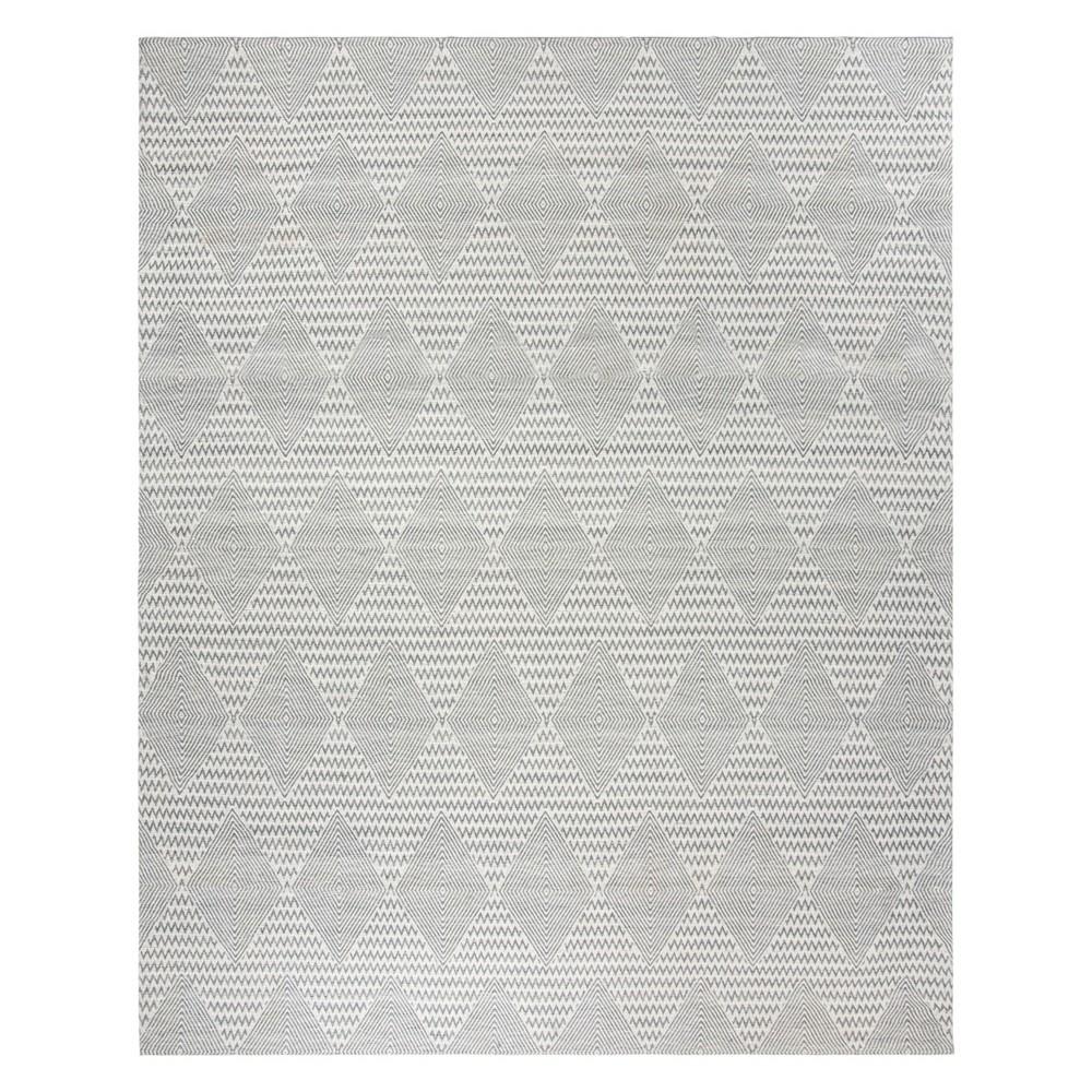 8X10 Geometric Area Rug Dark Gray/Ivory - Safavieh Discounts