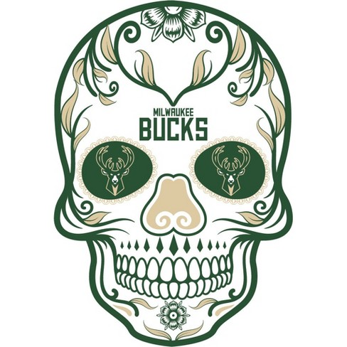 NBA Milwaukee Bucks Large Outdoor Skull Decal - image 1 of 1