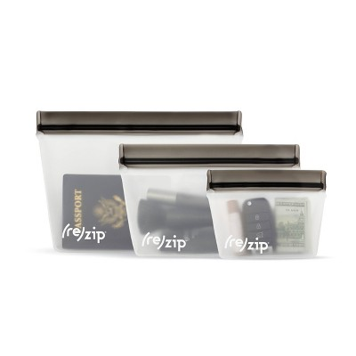 (re)Zip Stand up Reusable Food Storage Kit - Gray - 3pc