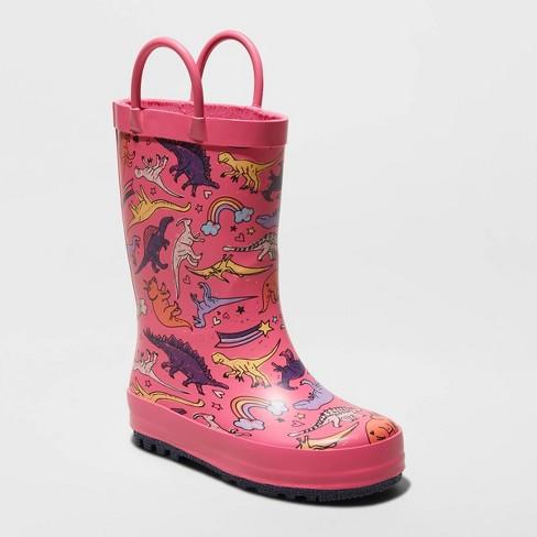 Toddler Girls' Romaine Rain Boots - Cat & Jack™ Pink - image 1 of 3