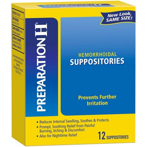 Preparation H Hemorrhoidal Suppositories - 12ct - image 1 of 3
