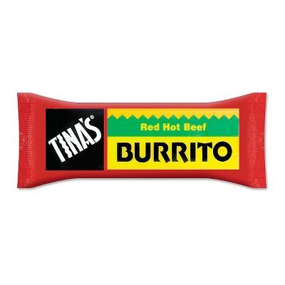 Tina's Red Hot Beef Frozen Burrito - 4oz