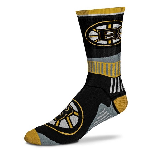 NHL Boston Bruins Sport Big Crew Sock - image 1 of 1