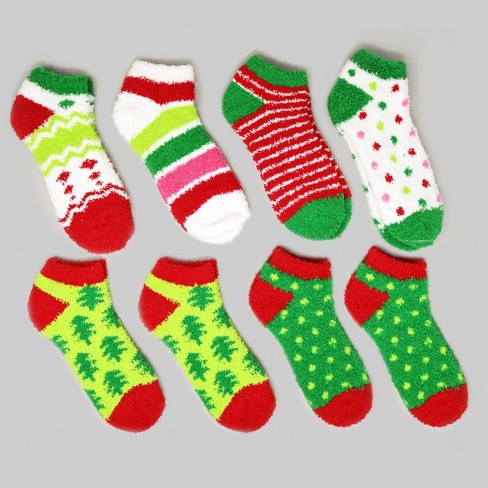8pk Women's Cozy Holiday Pattern Socks Size 9-11 - Bullseye's Playground™ - image 1 of 1