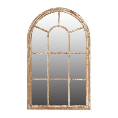 """54"""" Ada Arched Mirror Large White Wash Antique - A&B Home"""