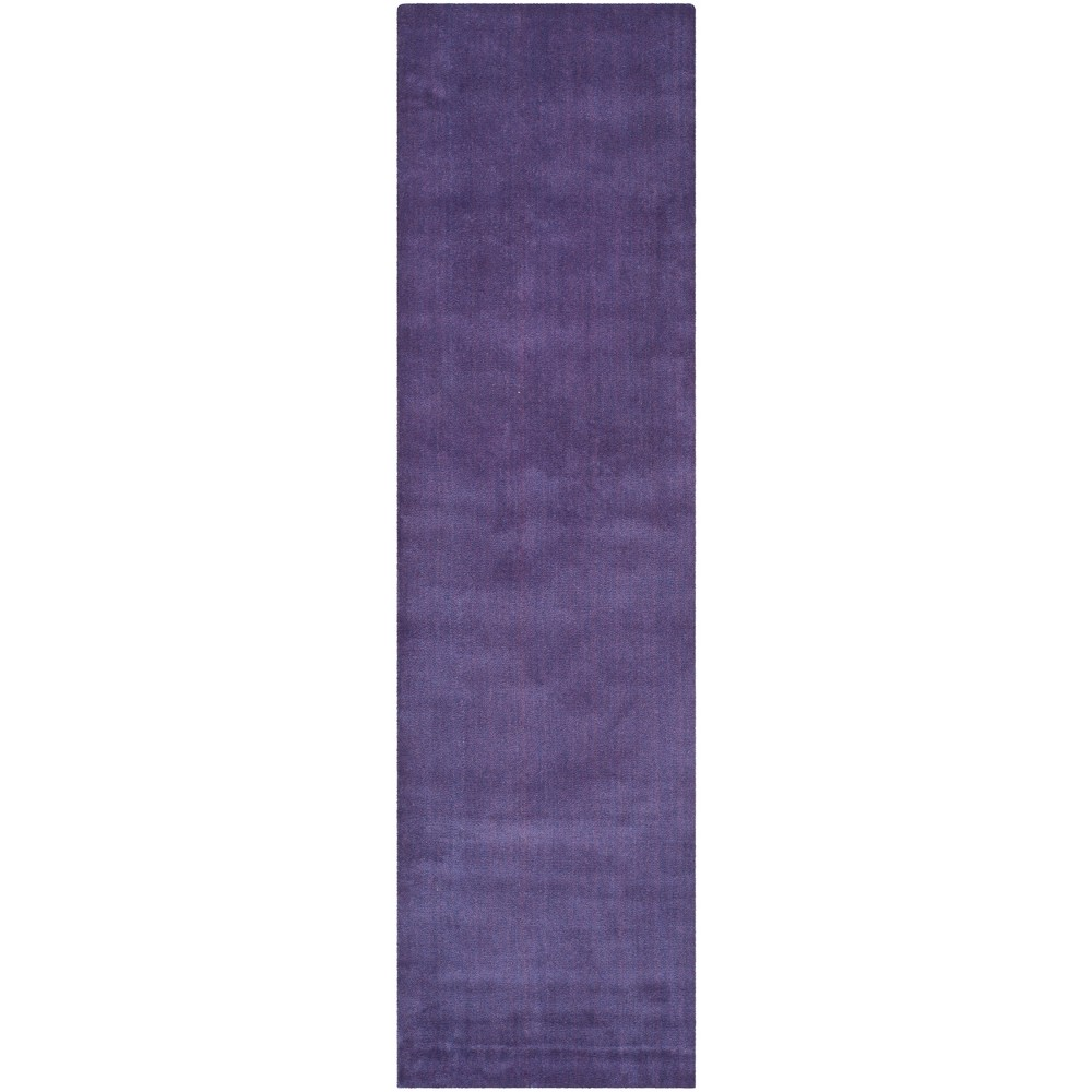 23X14 Solid Tufted Runner Purple - Safavieh Best