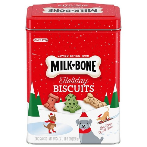 Milk-Bone Holiday Tin with Original Dog Biscuits - 24oz - image 1 of 1