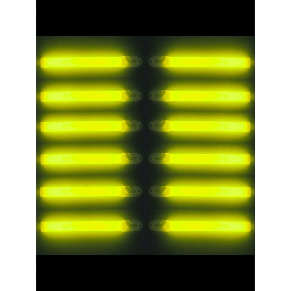 Halloween Glow Sticks - Yellow, Adult Unisex