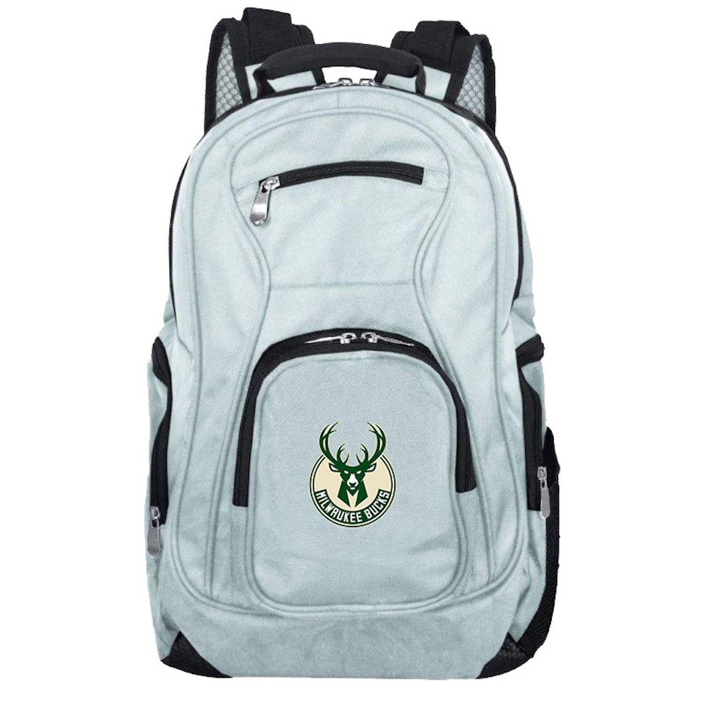 NBA Milwaukee Bucks Gray Laptop Backpack, Size: Small