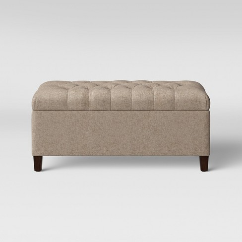 Outstanding Erving Large Tufted Storage Ottoman Beige Threshold Caraccident5 Cool Chair Designs And Ideas Caraccident5Info