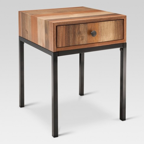Hernwood Mixed Material Side Table - Brown - Threshold™ - image 1 of 3
