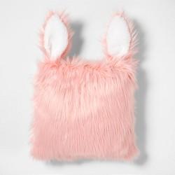 Rabbit Faux Fur Throw Pillow - Pillowfort™