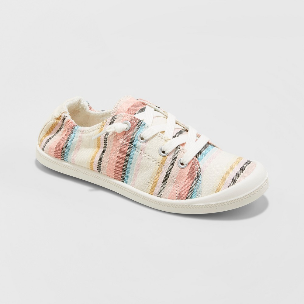 Women's Mad Love Lennie Wide Width Lace-up Canvas Sneakers - Blue 8W, Size: 8 Wide