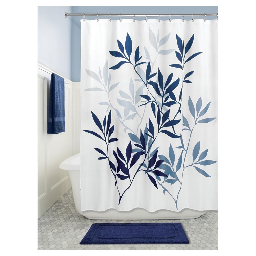 Leaves Shower Curtain Navy Idesign