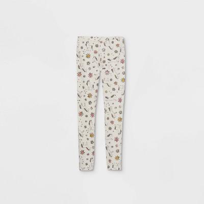 Girls' Unicorn Leggings - Cat & Jack™ Cream