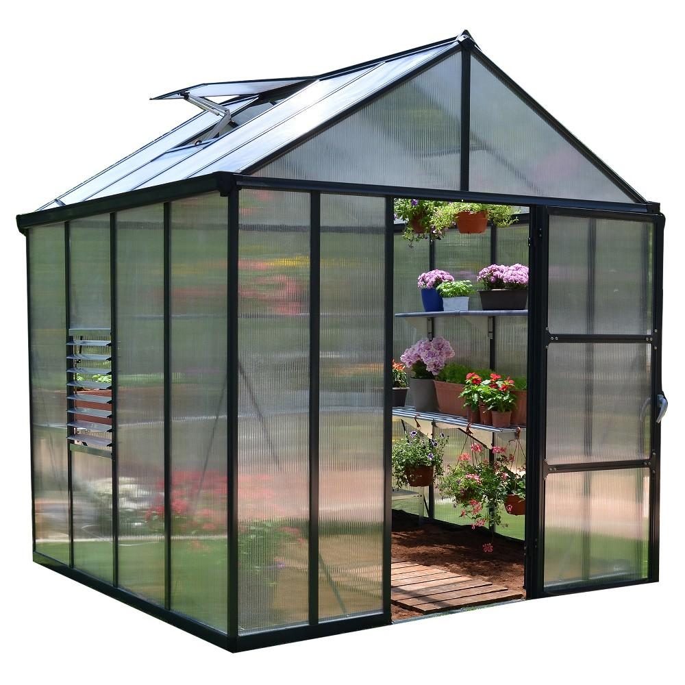 8' X 8' Glory Greenhouse - Gray - Palram