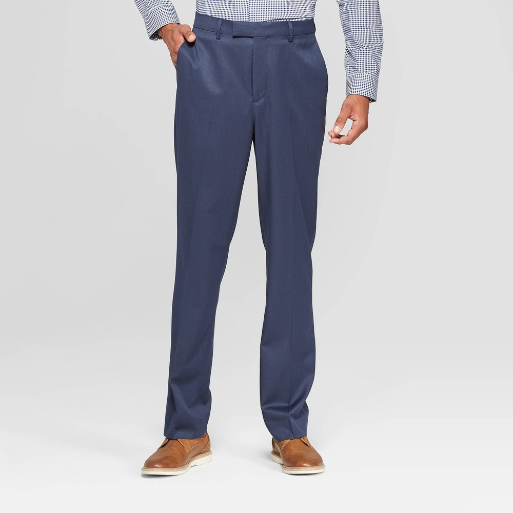 Men's 32 Standard Fit Suit Pants - Goodfellow & Co In The Navy 34x32