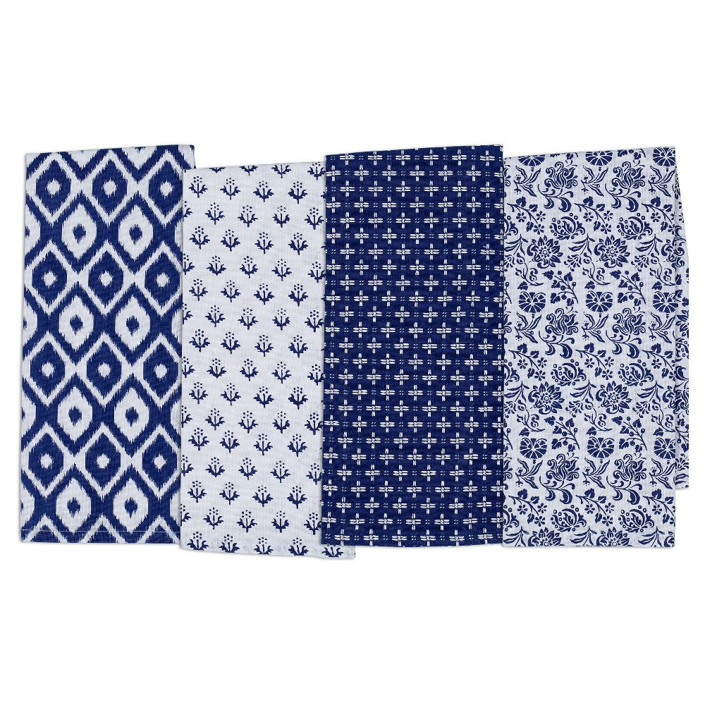 Market Dishtowel (Set Of 4) - Design Imports, Blue