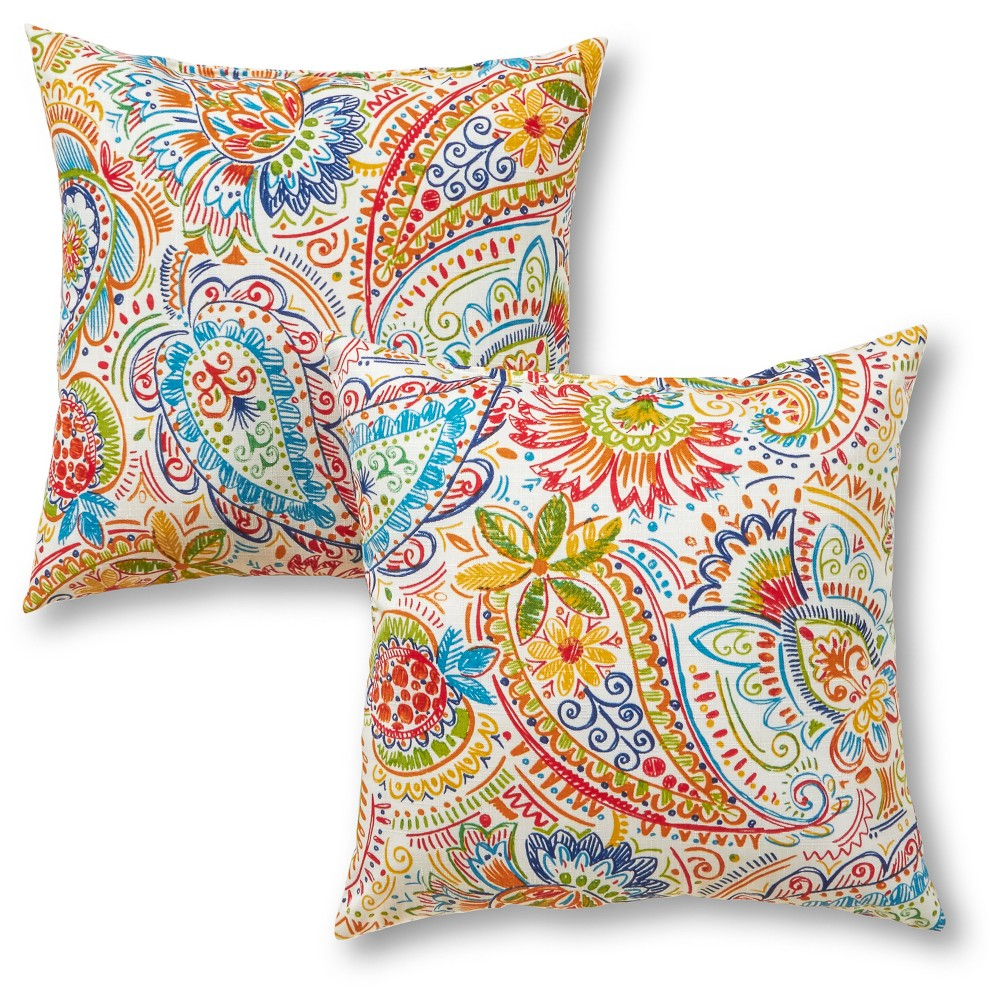 Image of Outdoor Throw Pillow Set - Greendale Home Fashions, Jamboree