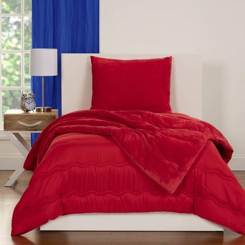 Crayola Playful Plush Red Comforter Set Twin 2pc Target