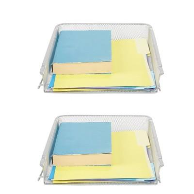 Mind Reader 2pc Stackable Letter Trays Front Load