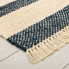 Jute Stripe Rug with Fringe Navy - Hearth & Hand™ with Magnolia - image 2 of 3