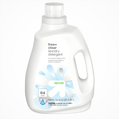 Free Clear HE Liquid Laundry Detergent 100oz - 64 loads - Up&Up™