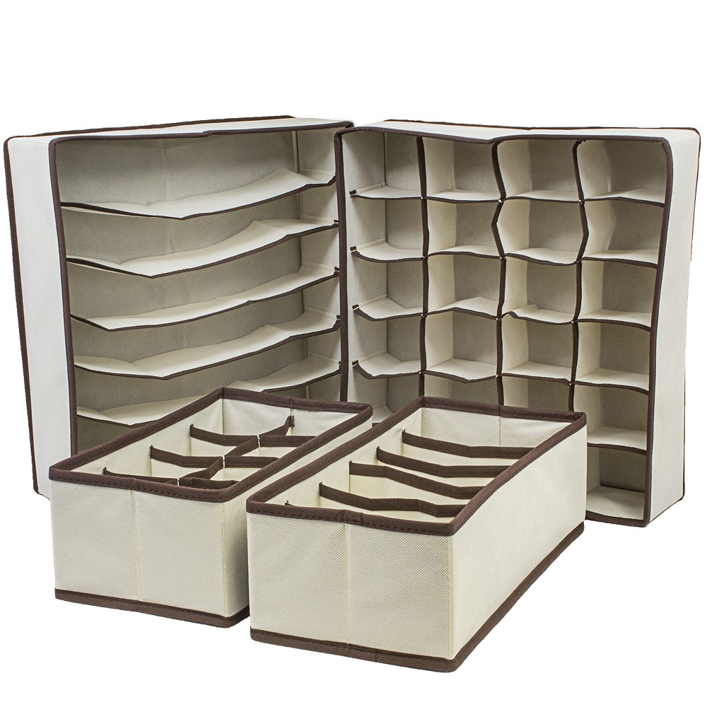 Sorbus Cube Storage Box Buff Beige