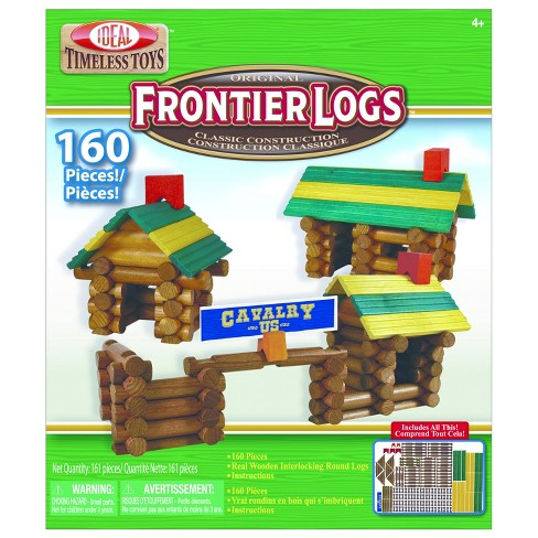 Ideal Frontier Logs Classic All Wood 160-Piece Construction Set - image 1 of 3