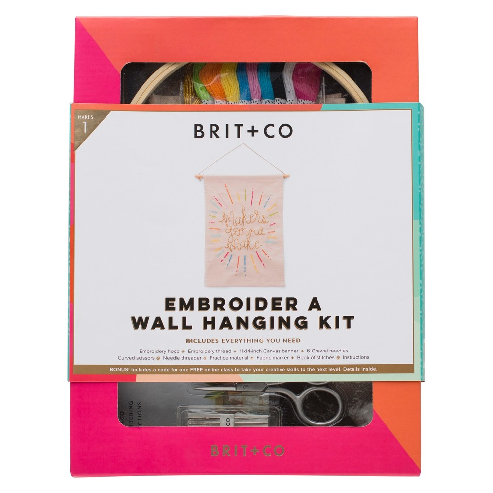 Brit + Co Embroider a Wall Hanging Kit