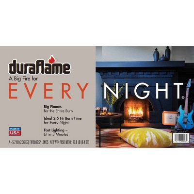 Duraflame 4pk 5.2lb Every Night Firelogs