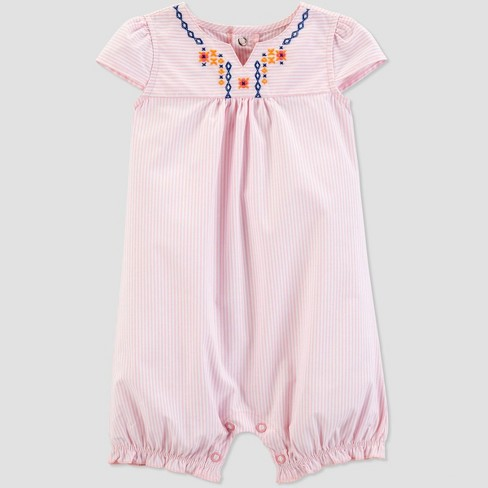 619b5885f Baby Girls' Striped Embroidered Romper - Just One You® made by carter's Pink