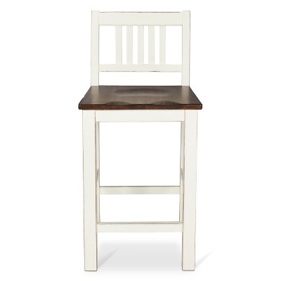 Davern Cottage 24  Counter Stool Wood/Off White